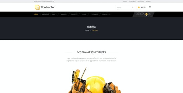 Contractor – Construction, Building Company Theme