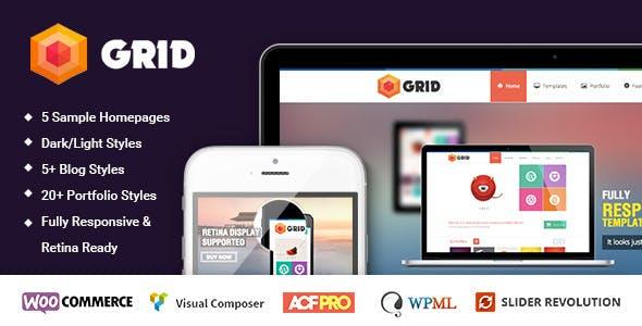 Grid – WordPress Responsive Agency Portfolio Theme