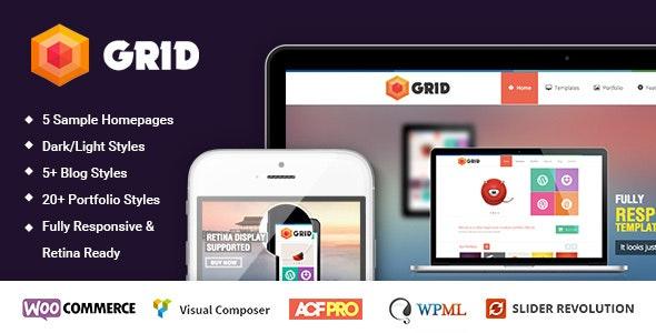 Grid – WordPress Responsive Agency Portfolio Theme - Portfolio Creative