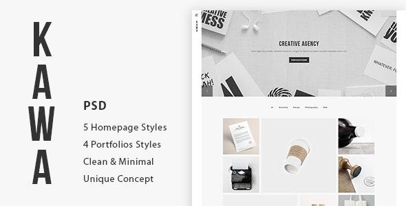 Kawa | Agency and Portfolio PSD Template - Portfolio Creative