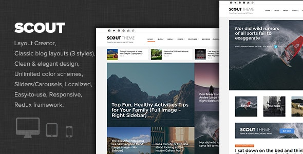 Scout - Adventure / Activity Blog WordPress Theme - Personal Blog / Magazine