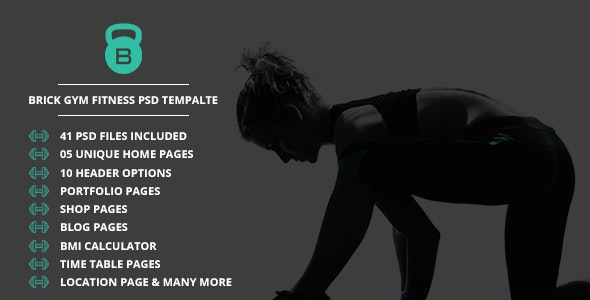 Brick  Fitness PSD Template - Health & Beauty Retail