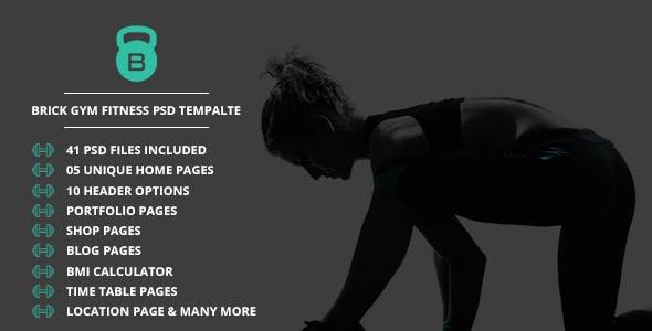 Brick  Fitness PSD Template