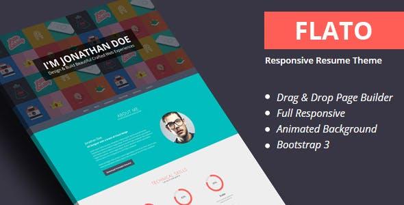 Flatoo - vCard, Resume WordPress Theme
