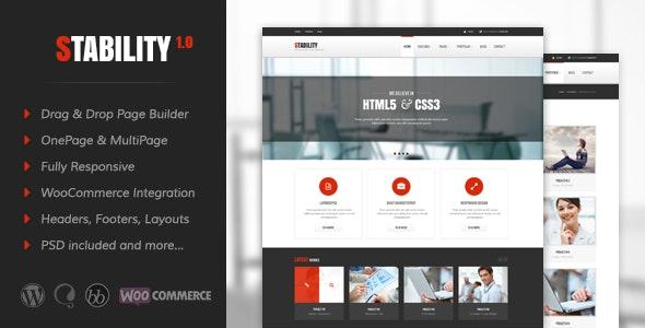 Stability Responsive MultiPurpose WordPress Theme - Business Corporate