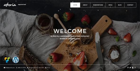 Astoria | Responsive WordPress Restaurant Theme - Food Retail