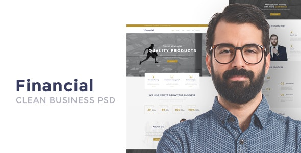 Financial - Clean Business PSD Templates - Business Corporate