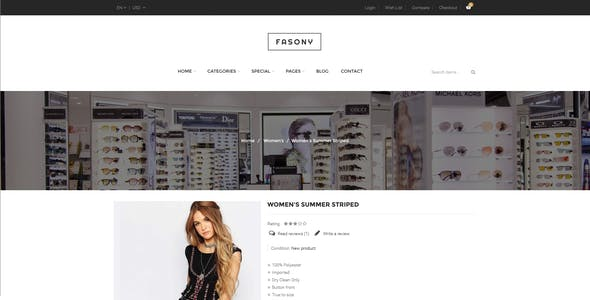 Fasony - Responsive Fashion Prestashop Theme