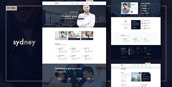 Sydney - Multiuse Financial Business HTML5 & CSS3 Template - Business Corporate