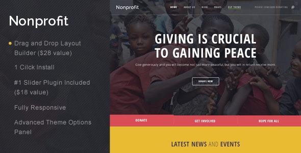 Nonprofit - NGO and Charity WordPress Theme - Charity Nonprofit