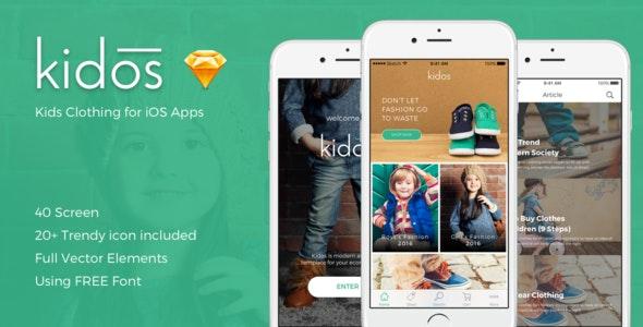 Kidos - Kids Clothing iOS UI Kit - Business Corporate