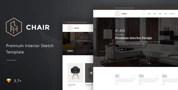 Chair – Premium Interior Sketch Template
