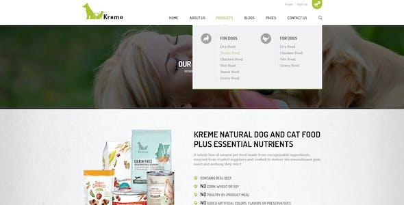 Kreme - Pet & Shop PSD Template