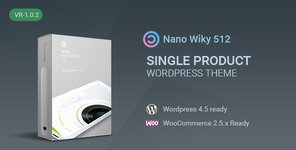Nano-Music Player / Single Product WP Theme - Retail WordPress
