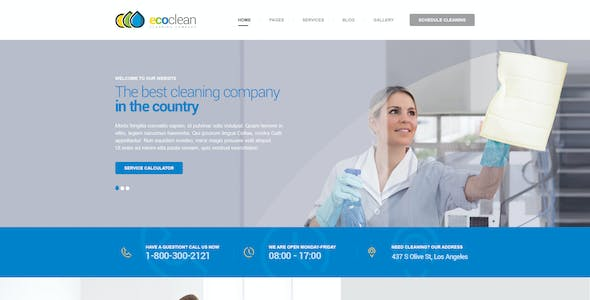 EcoClean - maids company PSD Template