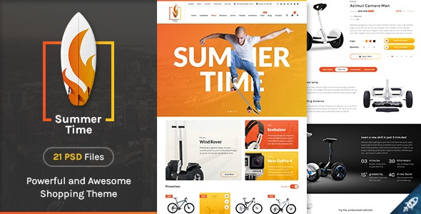 Summer Time - Trendsetter eCommerce PSD Template - Retail Photoshop