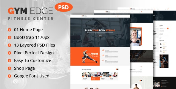 GYM Edge - Gym & Fitness PSD Template - Health & Beauty Retail
