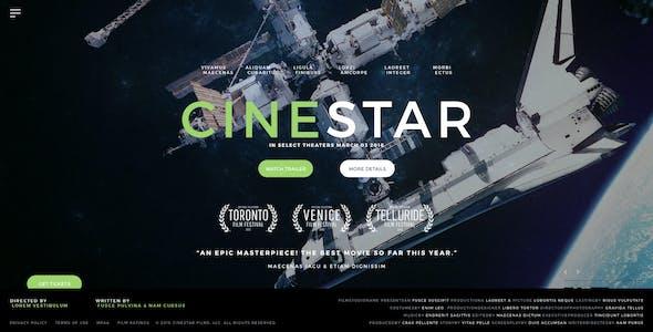 CINESTAR - Film Marketing PSD Template