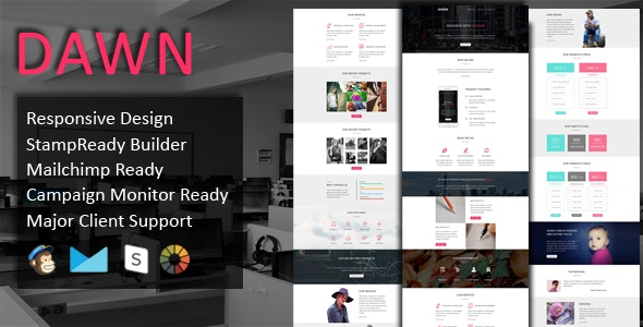 DAWN - Multipurpose Responsive Email Template - Email Templates Marketing