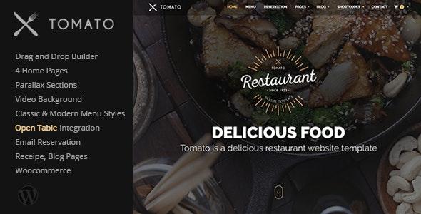 Tomato - Restaurant WordPress Theme - Restaurants & Cafes Entertainment