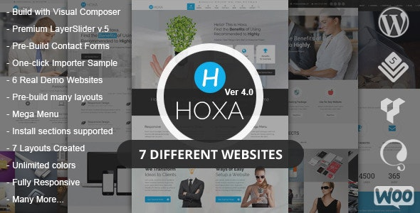Hoxa - MultiPurpose WordPress Theme - Business Corporate