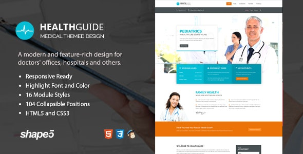 Health Guide - Responsive Medical and Doctor Template - Health & Beauty Retail