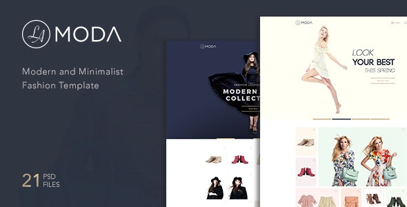 LaModa Fashion Template PSD - Fashion Retail