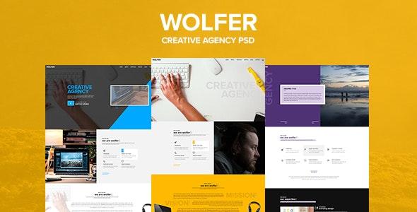 Wolfer – Creative PSD Template - Portfolio Creative