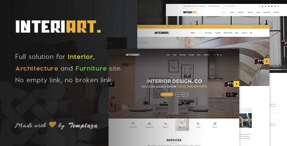 InteriArt - Furniture & Interior Joomla Template - Business Corporate