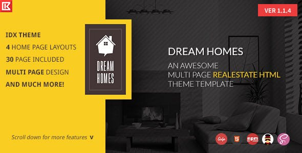 Dream Home   Multipage Realestate HTML Template