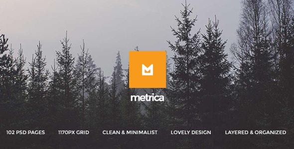 Metrica - Multi-Concept PSD Theme - Photoshop UI Templates