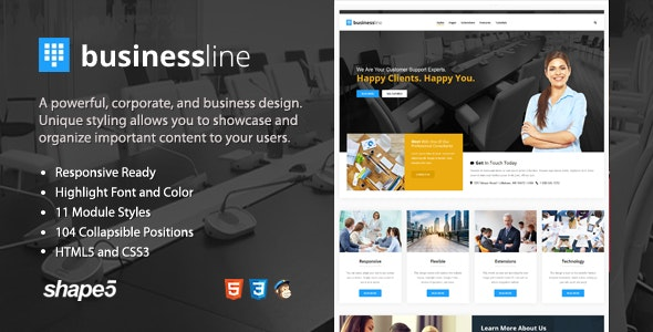 Business Line - Responsive Corporate and Business Template - Business Corporate