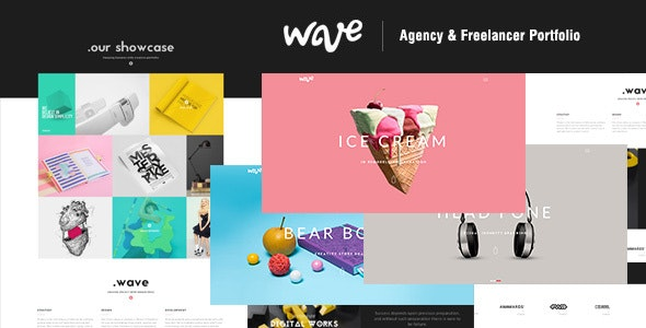 Wave | Agency & Freelancer Portfolio - Creative Site Templates
