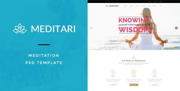 Meditary - Mediatation PSD Template - Health & Beauty Retail