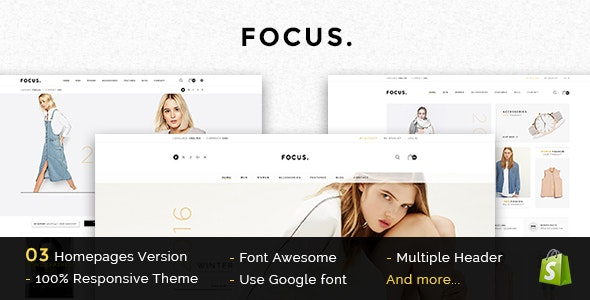 Focus - Responsive Shopify Theme - Fashion Shopify