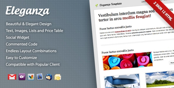 Eleganza Email Template - Email Templates Marketing