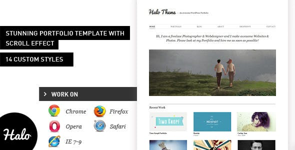 Halo Website Templates from ThemeForest