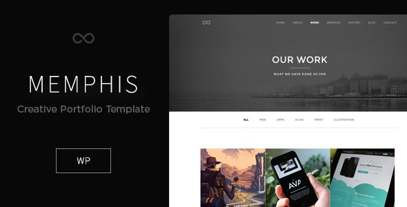 Memphis - Minimal Creative WordPress Theme - Creative WordPress