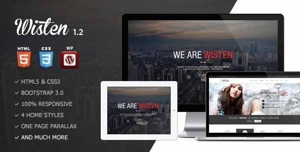 Wisten - Wordpress One Page Parallax Theme - Creative WordPress
