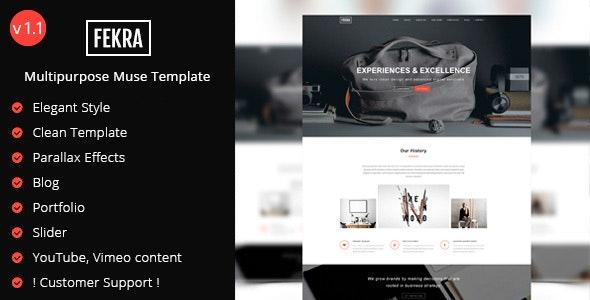 Fekra - Elegant Multipurpose Muse Template - Corporate Muse Templates