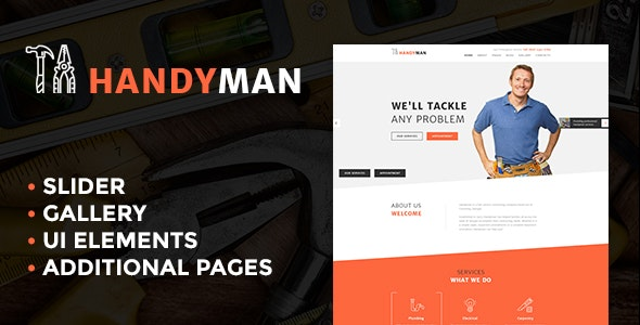 Handyman Services - Responsive Joomla Template - Business Corporate