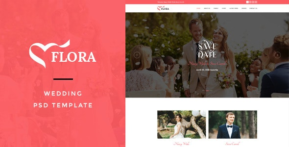 Flora : Wedding PSD Template - Miscellaneous Photoshop