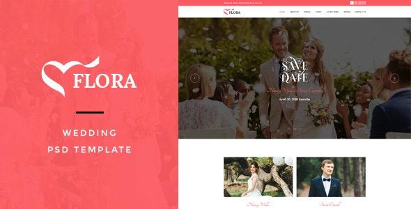 Flora : Wedding PSD Template - Miscellaneous PSD Templates