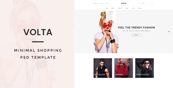 Volta : Minimal Shopping PSD Template - Fashion Retail