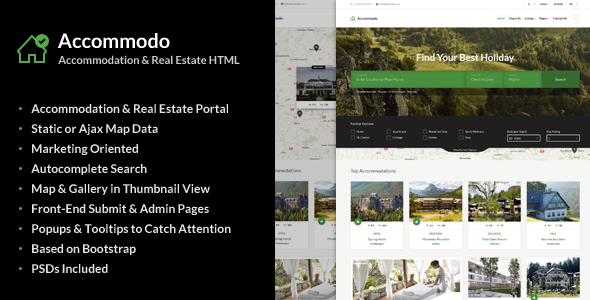 Accommodo - Accommodation Travel Template - Business Corporate