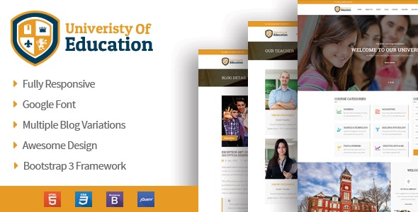 University of Education - Educational HTML5 Theme - Nonprofit Site Templates