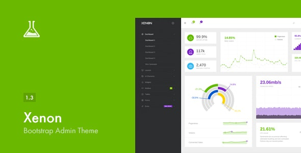 Xenon - Bootstrap Admin Theme with AngularJS by Laborator | ThemeForest