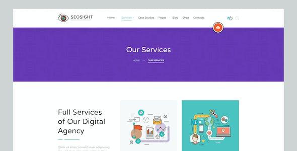 Seosight - SEO, Digital Marketing Agency PSD Template