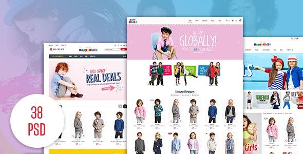 HappyChild - Fashion eCommerce PSD Template - Fashion Retail