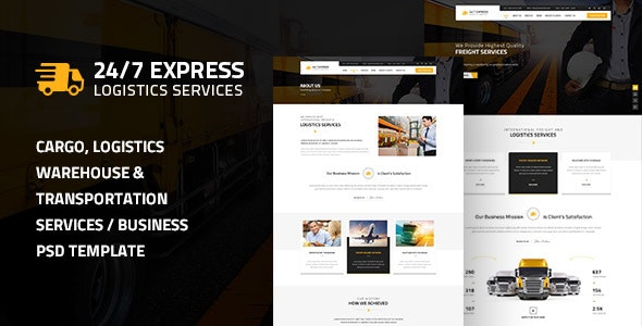 24/7 Express Logistics Services HTML - Business Corporate